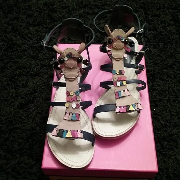 dcb12127f475e kate spade Shoes - Kate Spade Sahara navy blue camel sandals